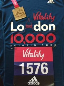 Finisher's medal and t-shirt