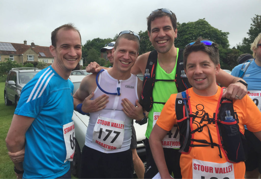 Pete, Lee, Carl and Tom at the start