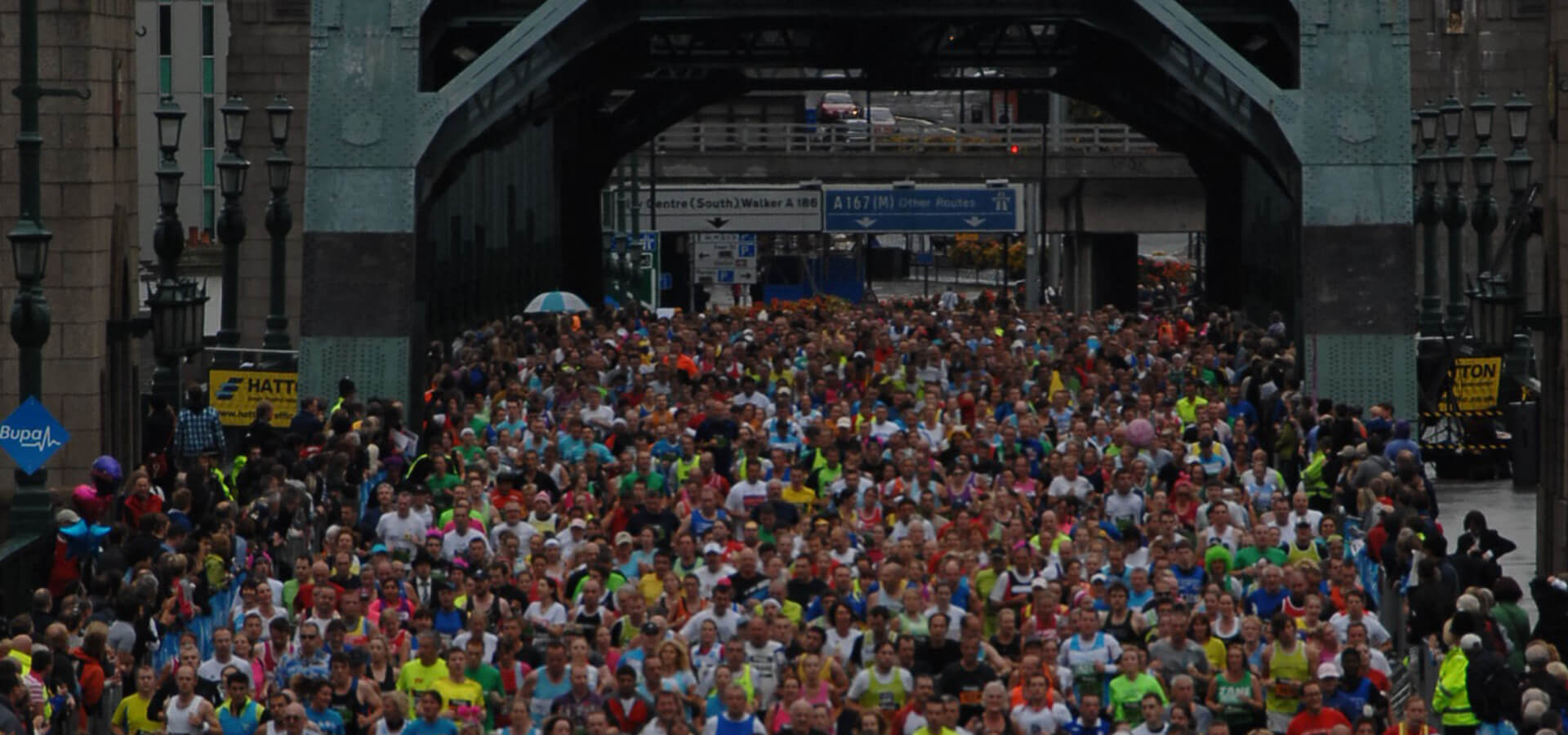 Tyne Bridge at the Great North Run