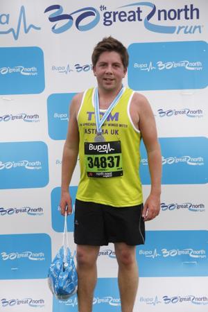 Tom Wake - Great North Run Finisher