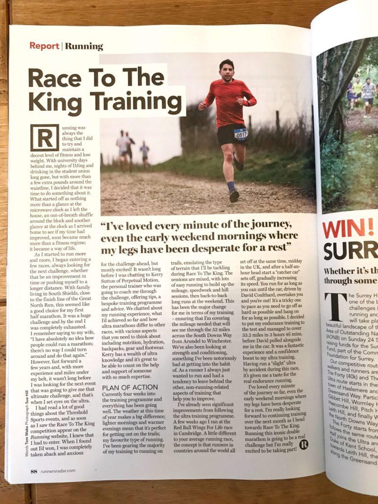 Tom Wake - Race to the King Training