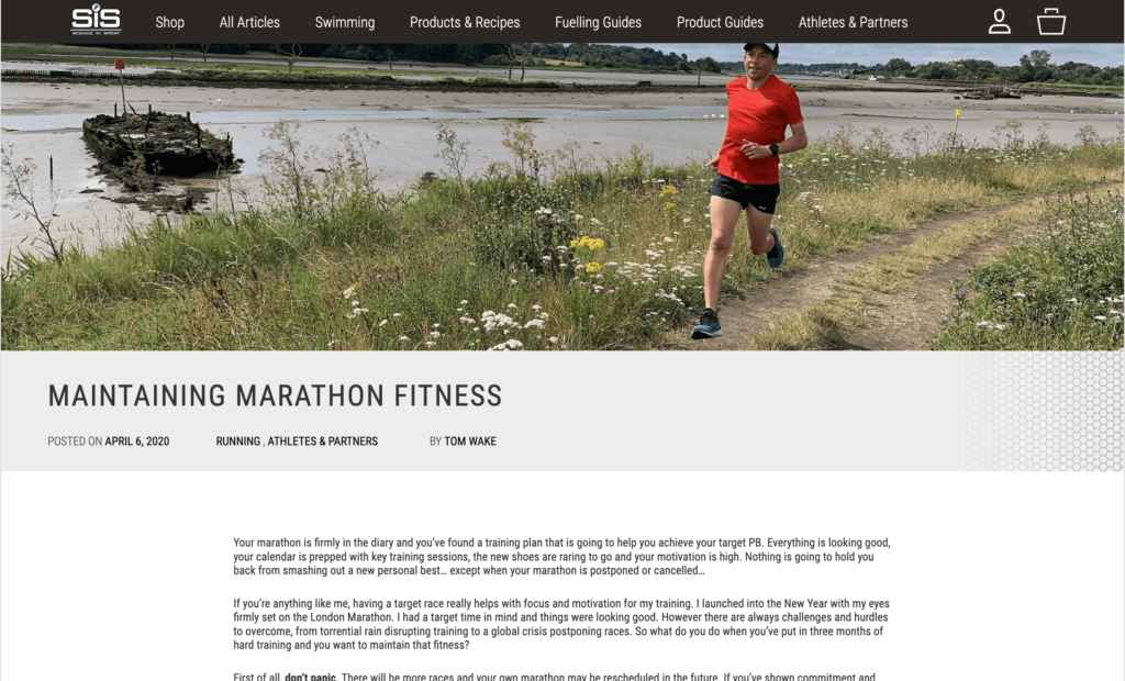 Maintaining Marathon Fitness
